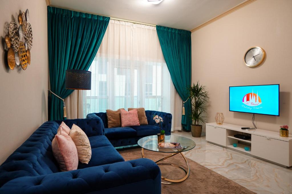 منطقة جلوس في A C Pearl Holiday Homes - Velvet and Marble