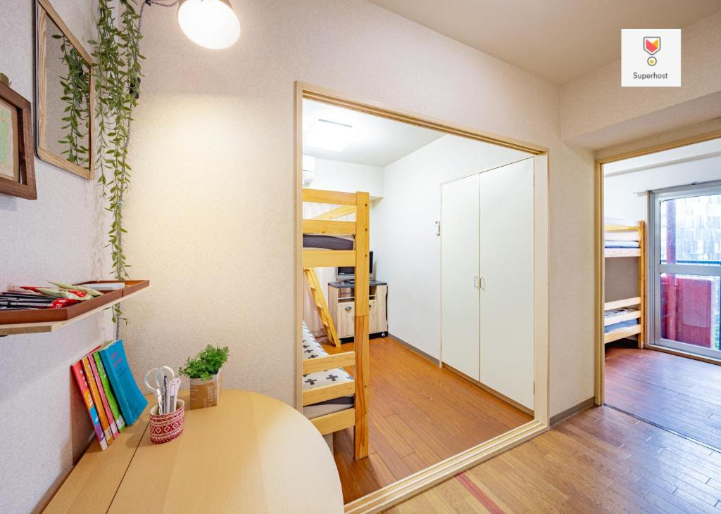 A bunk bed or bunk beds in a room at CPM Higashishinjuku/1 minute by walk