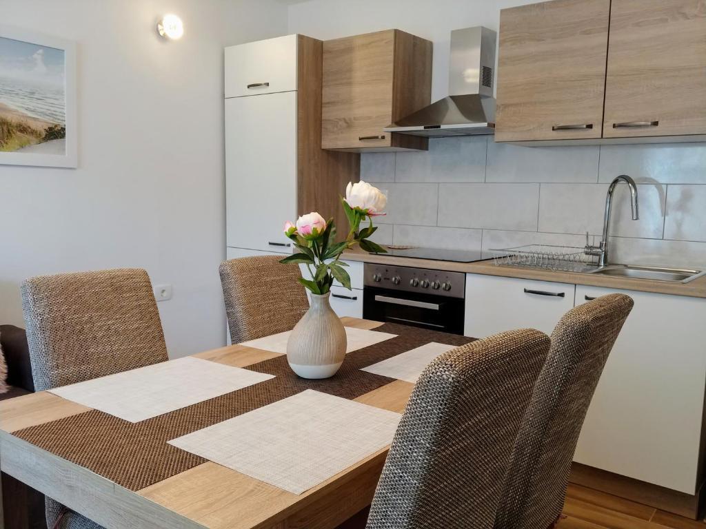 Cuisine ou kitchenette dans l'établissement nona Marta apartment
