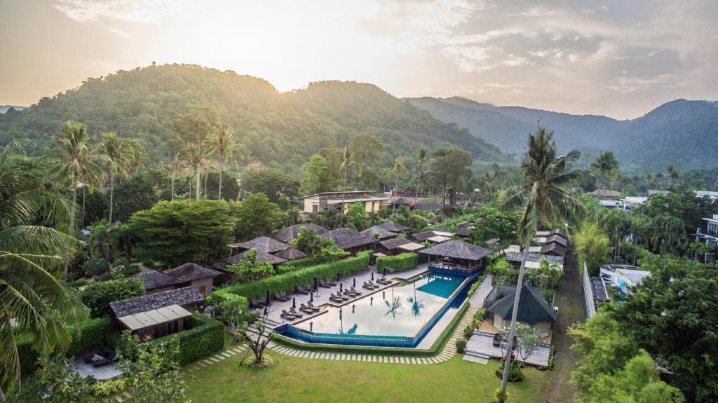 A view of the pool at Gajapuri Resort & Spa or nearby