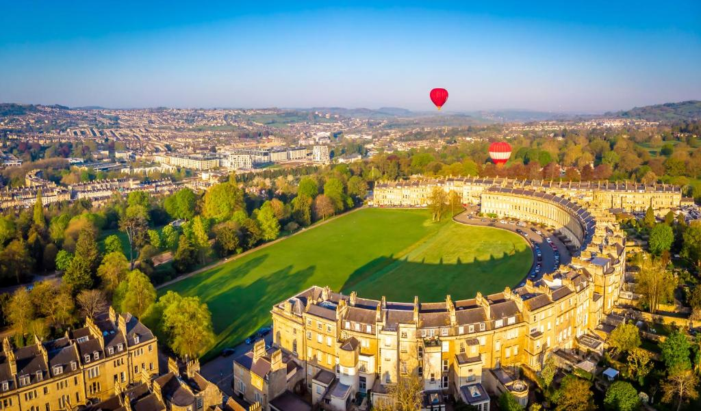A bird's-eye view of The Royal Crescent Hotel & Spa
