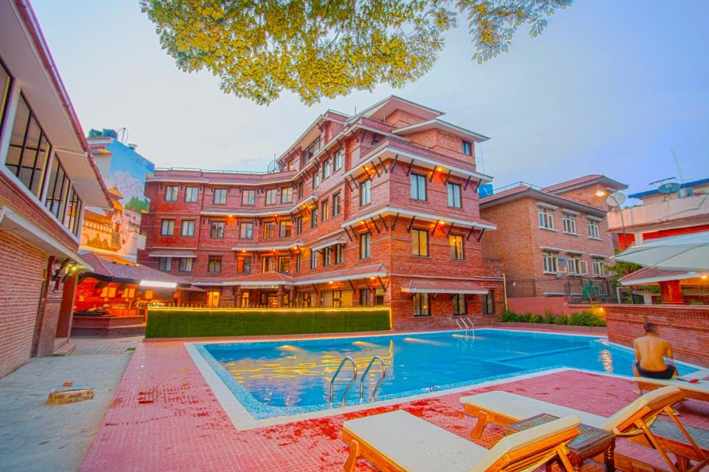 The swimming pool at or near Pashupati Boutique Hotel & Spa