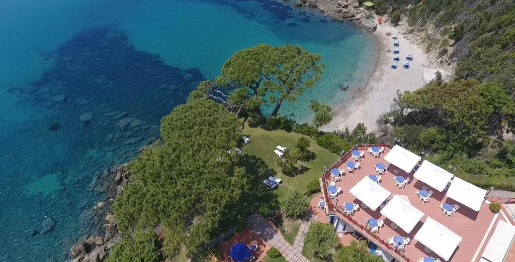 A bird's-eye view of Hotel Viticcio