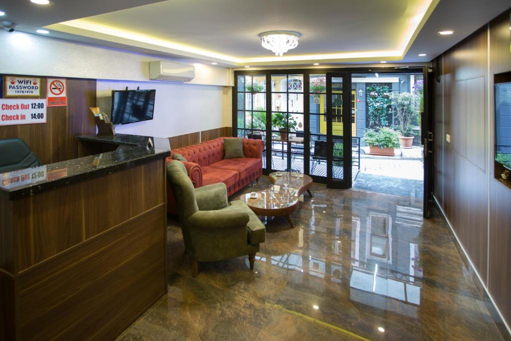 The lobby or reception area at T-Square Residence