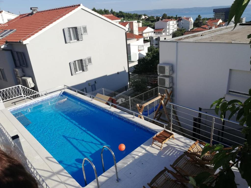A view of the pool at Apartments Leptiric or nearby
