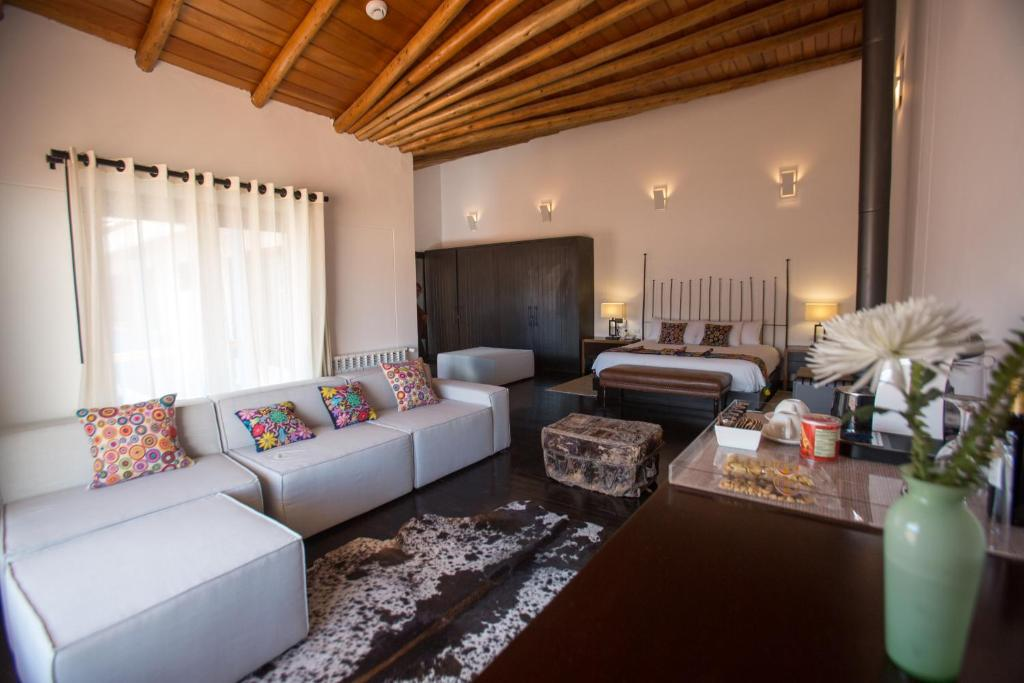 A seating area at Tocuyeros Boutique Hotel