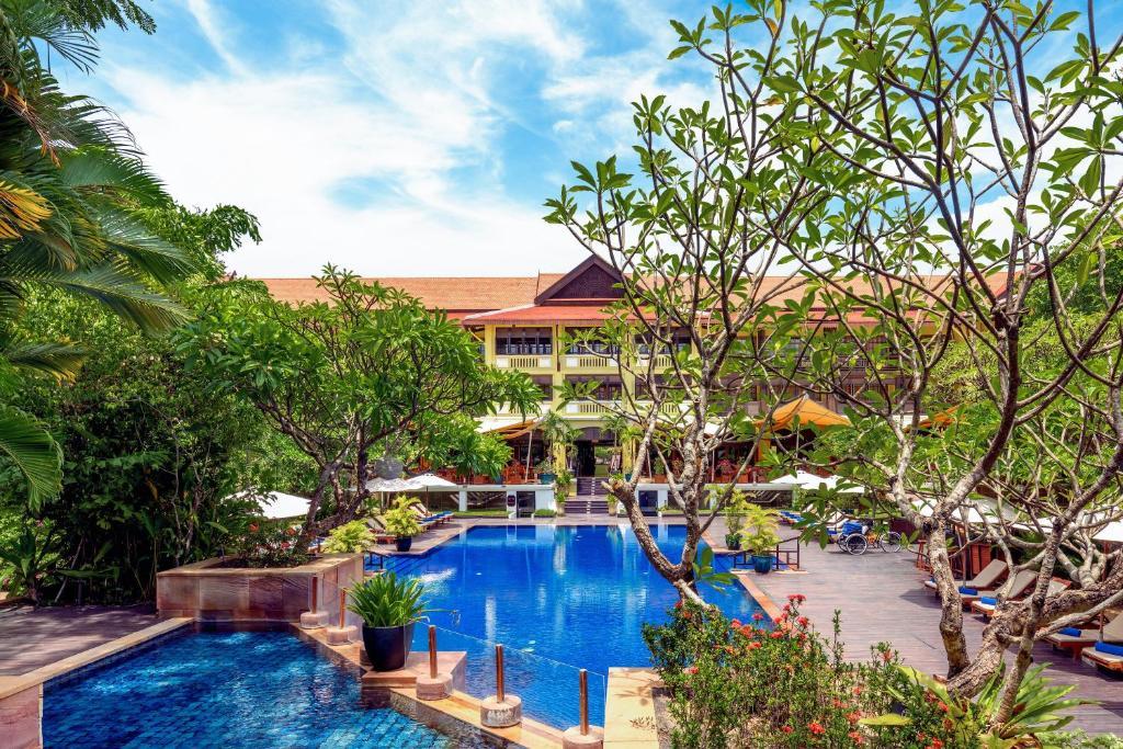 The swimming pool at or near Victoria Angkor Resort & Spa