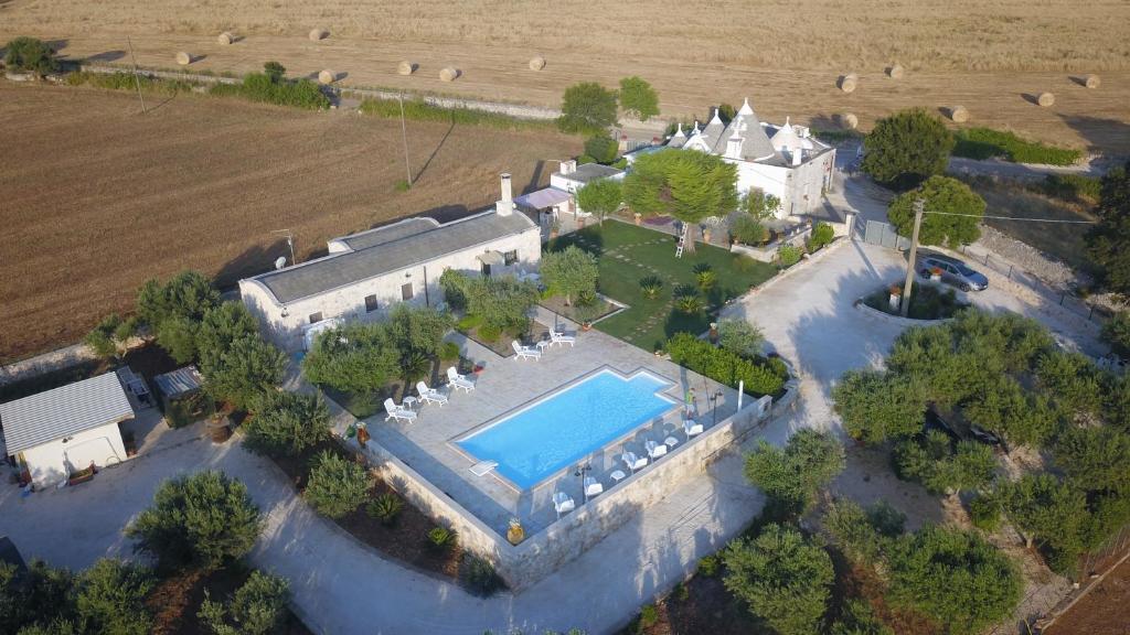 Vista aerea di Trulli Dal Conte