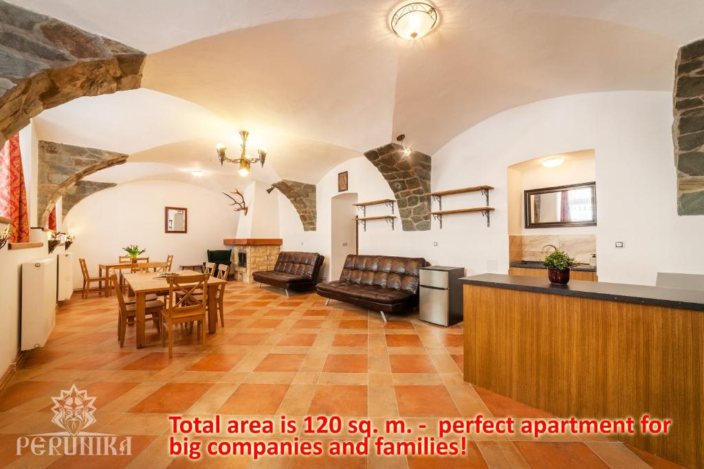 De lobby of receptie bij Perunika Apartment in Prague