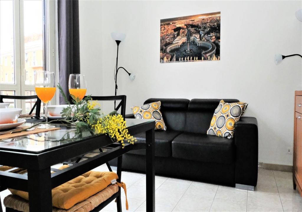 Area soggiorno di Colle Aventino Home