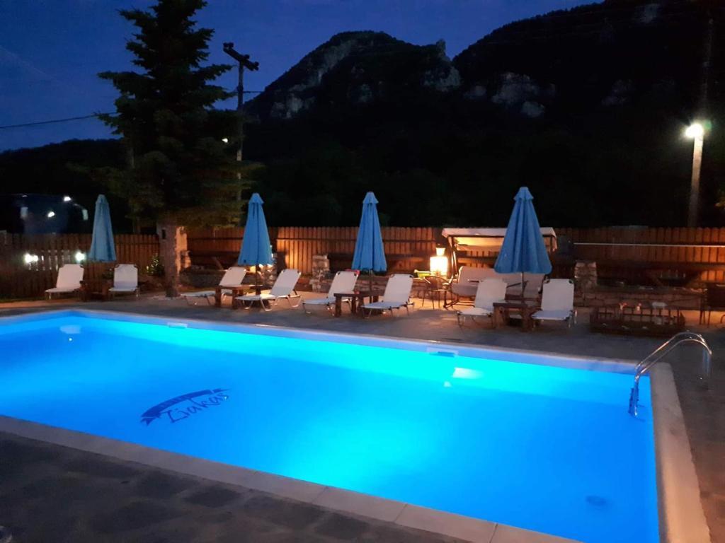 Πισίνα στο ή κοντά στο Ziakas Rooms