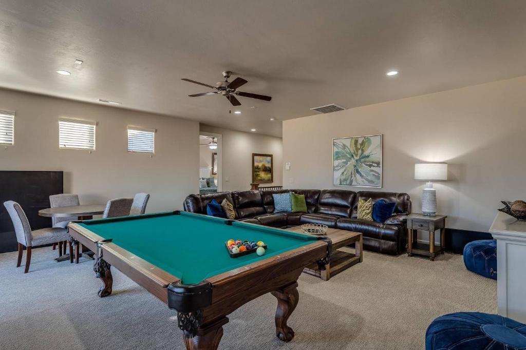 A pool table at Canyon View Retreat #56
