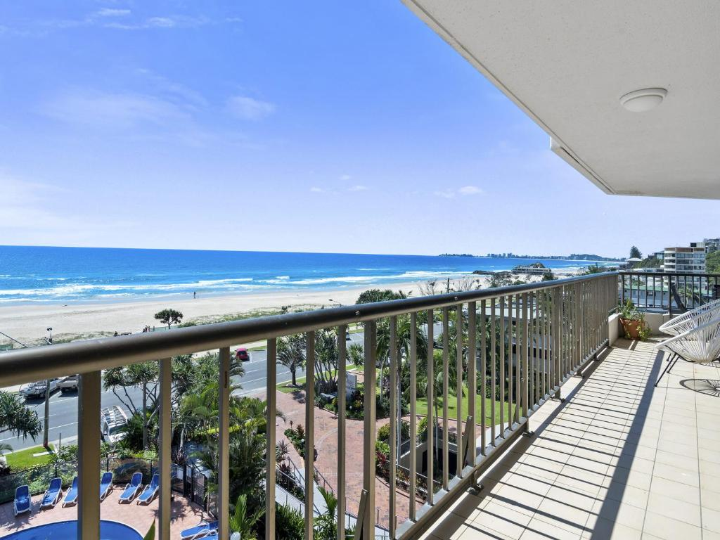 A balcony or terrace at The Rocks Resort, Unit 5D