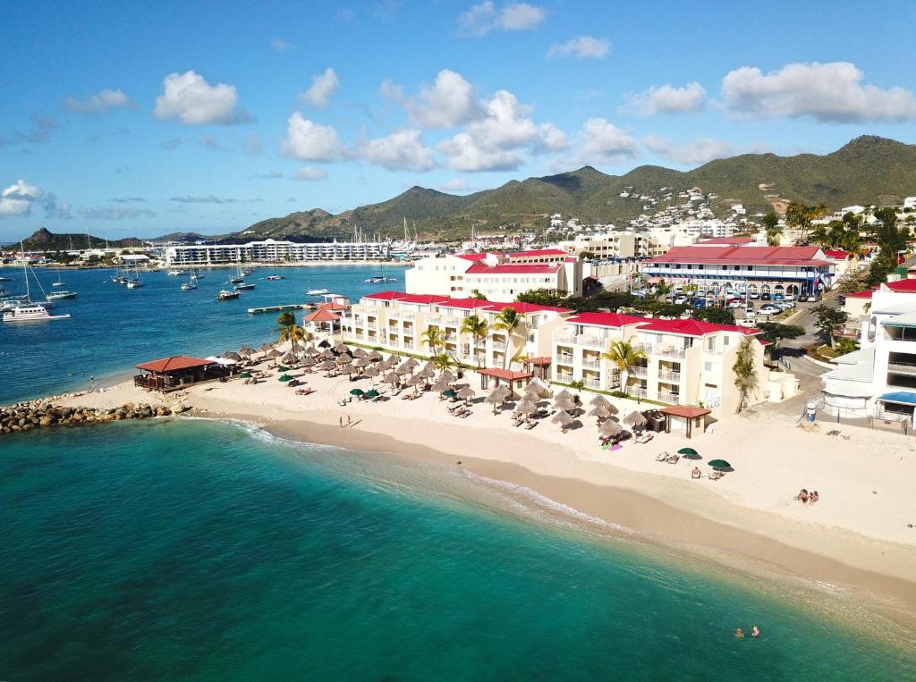 A bird's-eye view of Simpson Bay Resort Marina & Spa