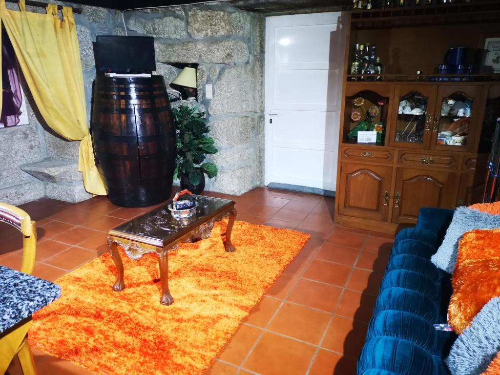 A seating area at Casa leão
