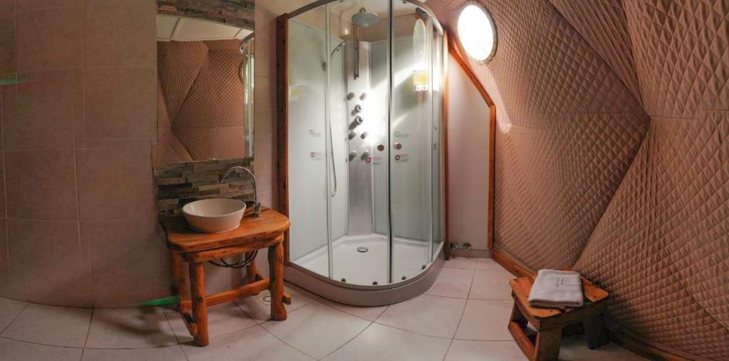 Un baño de Patagonia Eco Domes