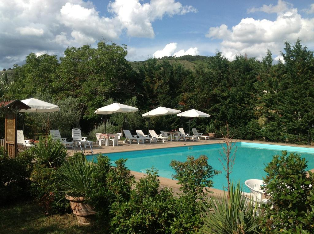 The swimming pool at or near Agriturismo Collelignani