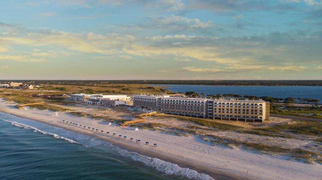 A bird's-eye view of The Lodge at Gulf State Park, A Hilton Hotel