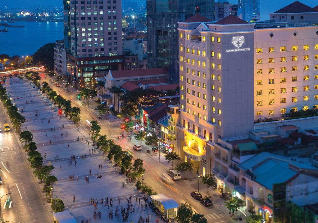 A bird's-eye view of Saigon Prince Hotel