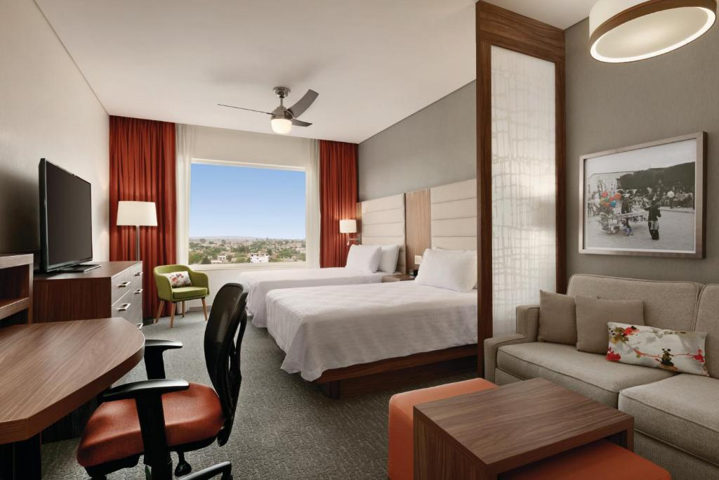 A room at the Homewood Suites by Hilton Silao Airport.