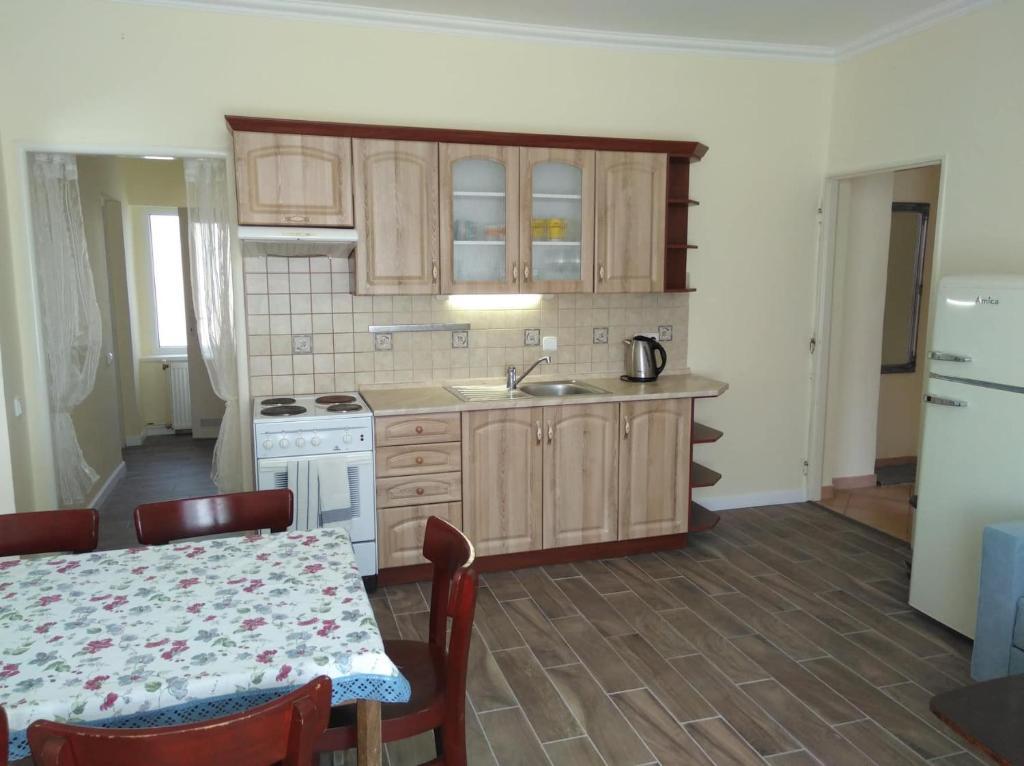 Kuchyň nebo kuchyňský kout v ubytování Apartmán Nostalgie