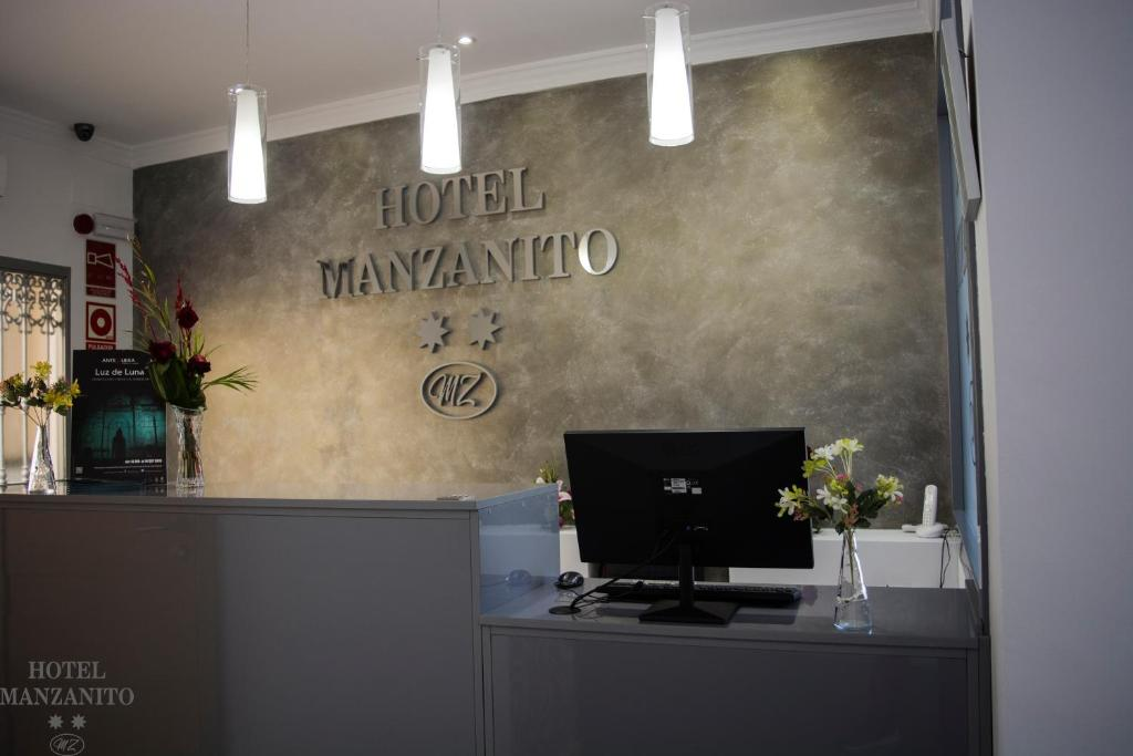A television and/or entertainment center at Hotel Manzanito