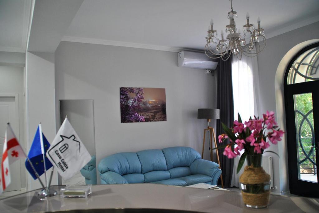 A seating area at Hotel Casa calda