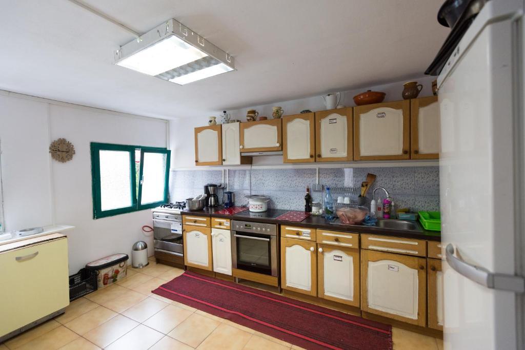 O bucătărie sau chicinetă la Pensiunea Balkan Expres