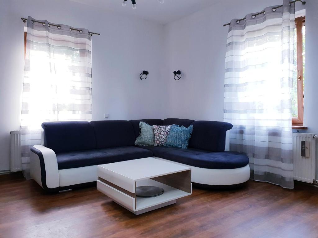 A seating area at Apartament Wałbrzych / Szczawno - Zdrój