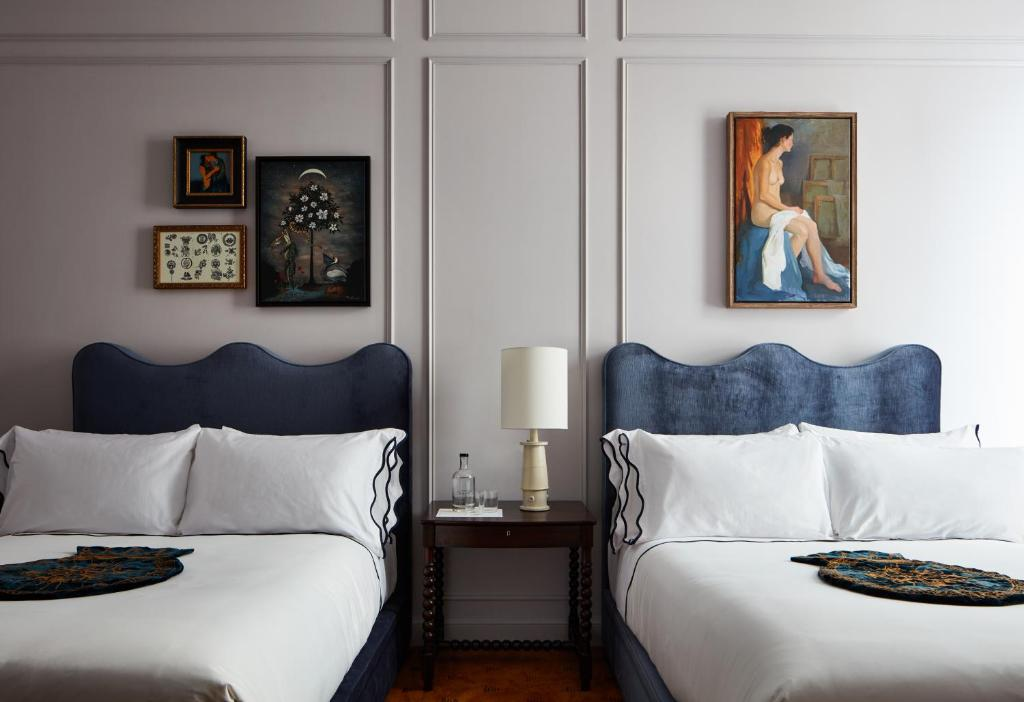 Un ou plusieurs lits dans un hébergement de l'établissement Maison de la Luz