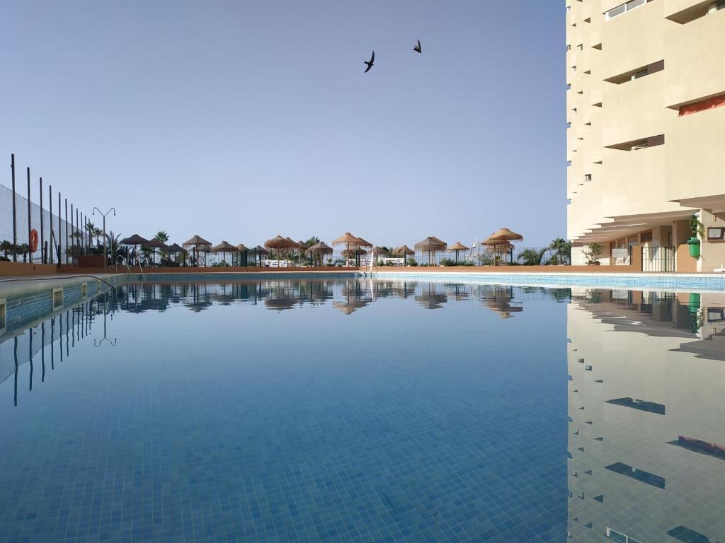 Het zwembad bij of vlak bij Apal Chinasol