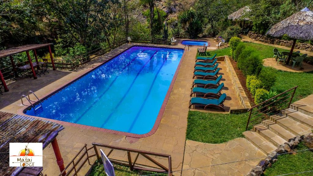 A view of the pool at Masai Lodge or nearby