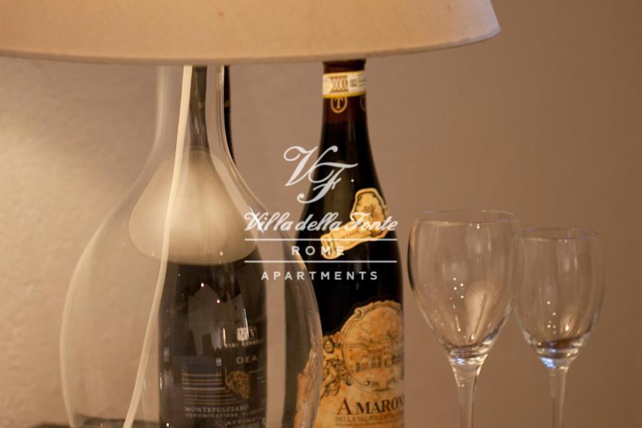 Drinks at Villa della Fonte Apartment