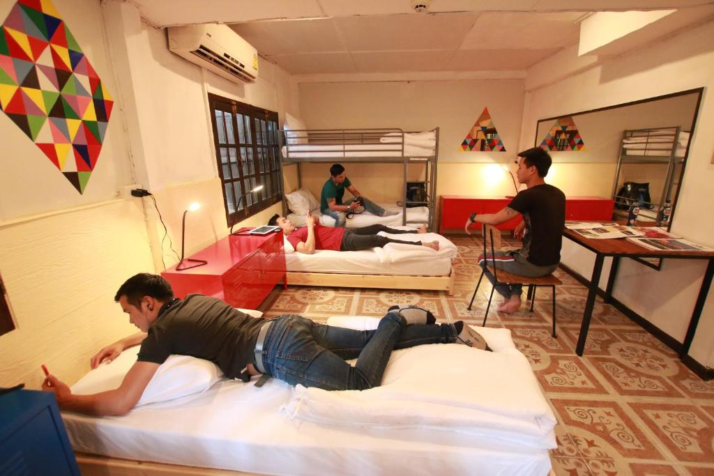 Guests staying at Club One Seven Gay Men Hotel Chiang Mai