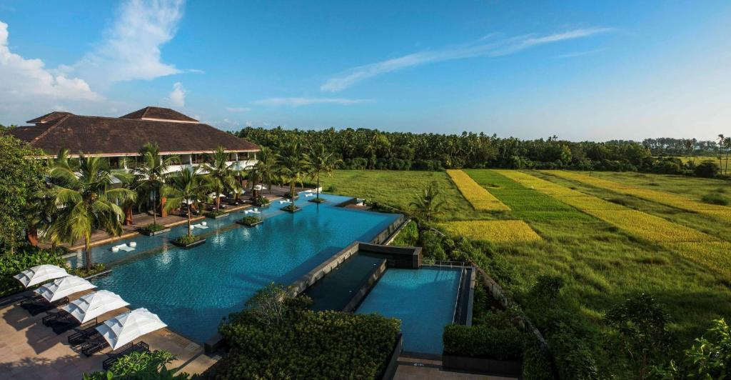 A view of the pool at Alila Diwa Goa or nearby
