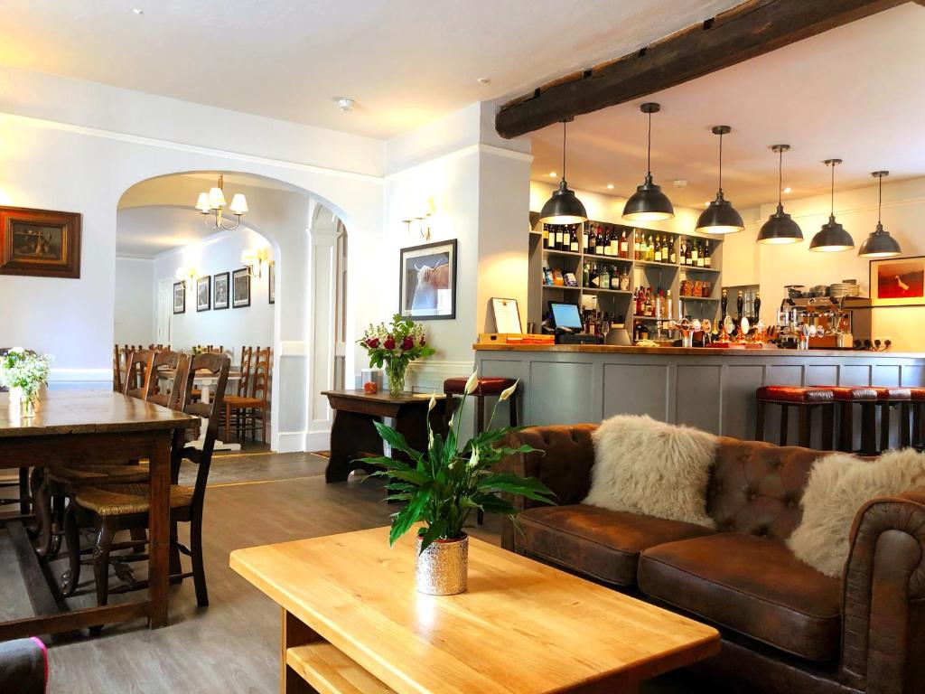 The lounge or bar area at The Red Lion Hotel