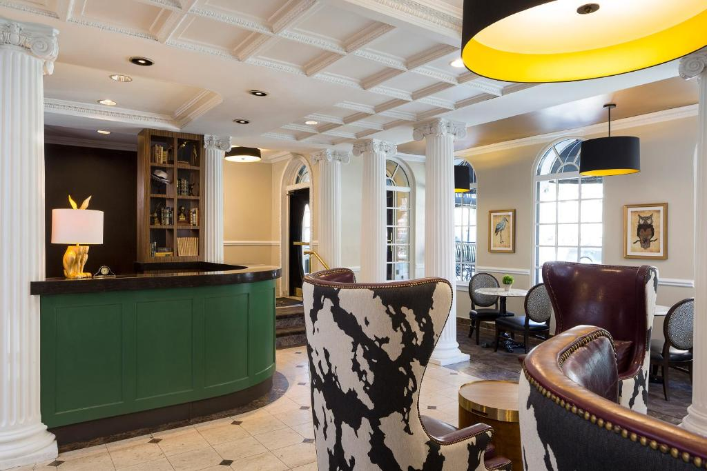 The lounge or bar area at The Willows Hotel