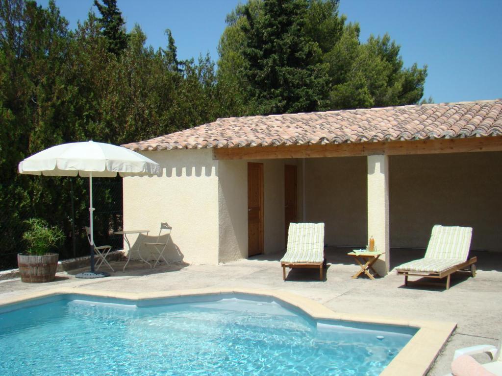 The swimming pool at or near B&B L'Oustalet de Sylvie