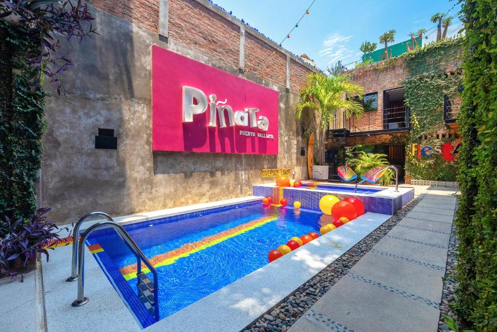 The swimming pool at or close to Piñata PV Gay Hotel