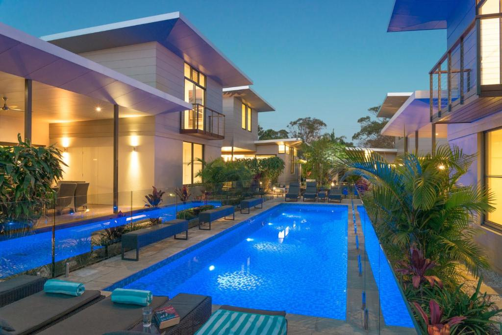 The swimming pool at or near Byron Luxury Beach Houses