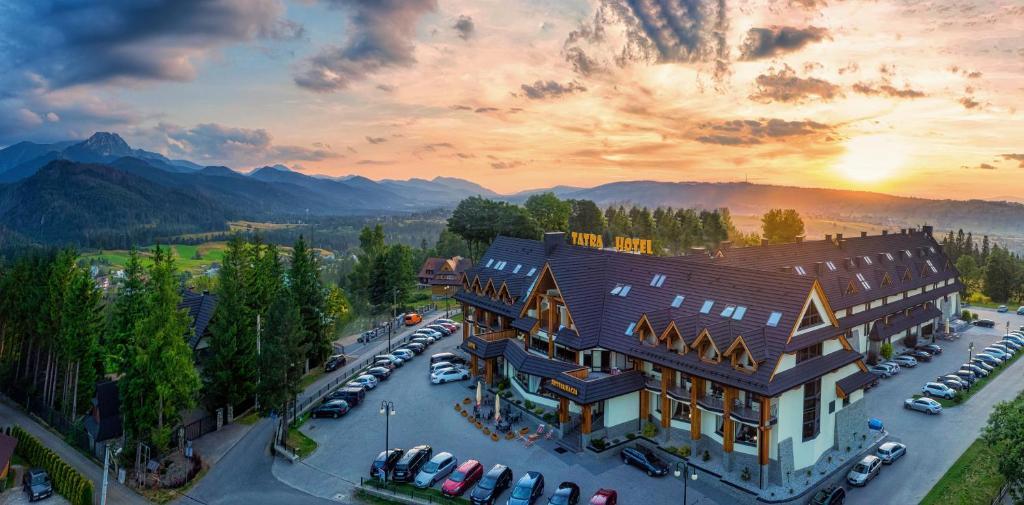 A bird's-eye view of Hotel Tatra