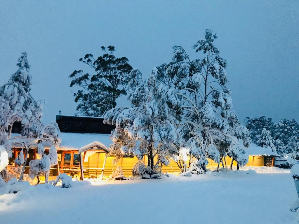 Cradle Mountain Wilderness Village during the winter