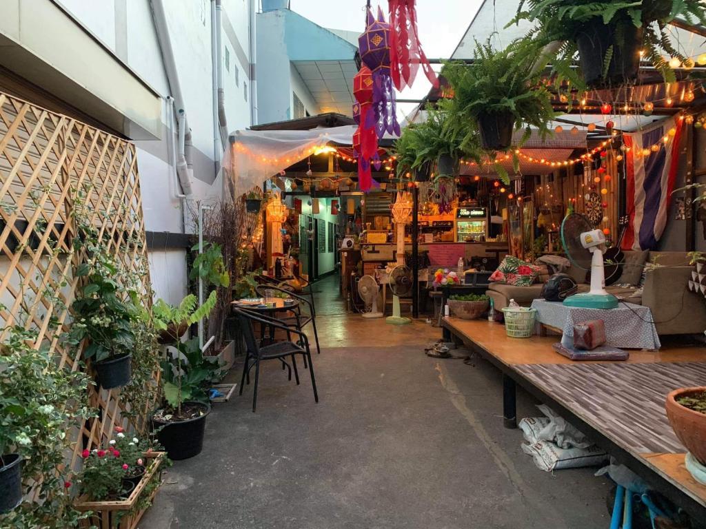 En restaurang eller annat matställe på Lantern House Chiang Mai