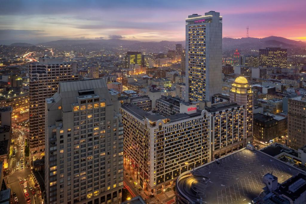 A bird's-eye view of Hilton San Francisco Union Square