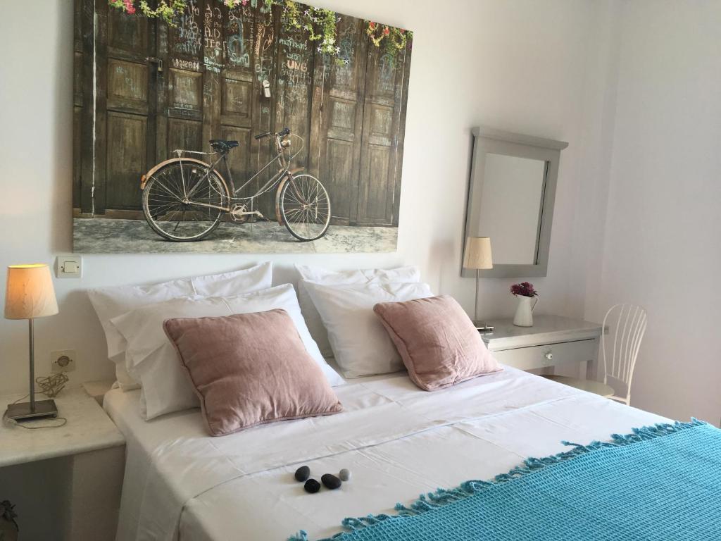 Ένα ή περισσότερα κρεβάτια σε δωμάτιο στο Alonia Studios
