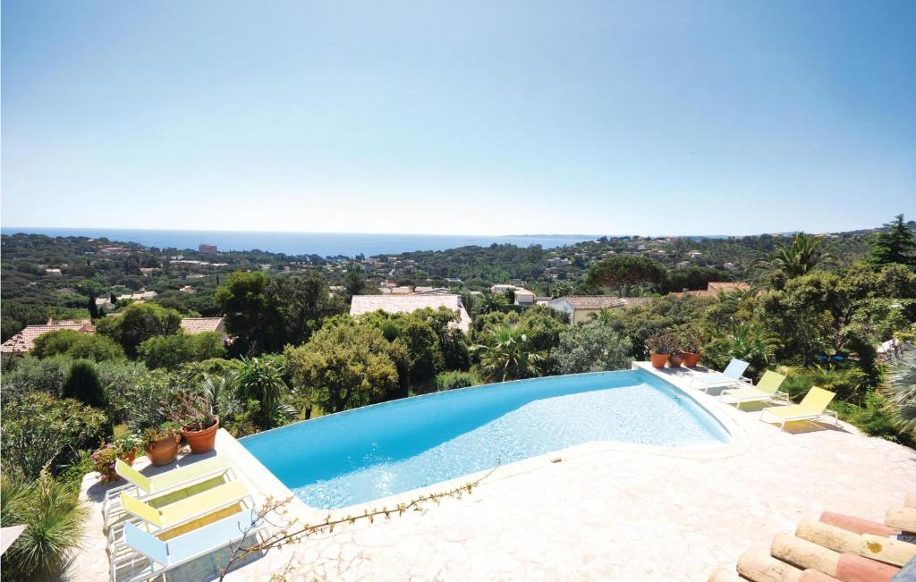 A view of the pool at Holiday Home Les Issambres with Sea View II or nearby