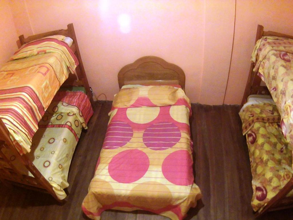 A bed or beds in a room at Hostal Graciela
