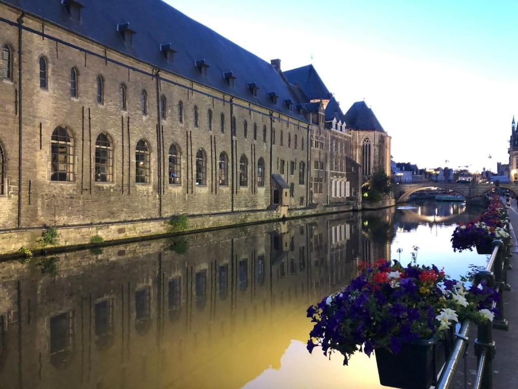 Обои leie river, ghent, патерсхол, belgium, бельгия, лис. Города foto 15