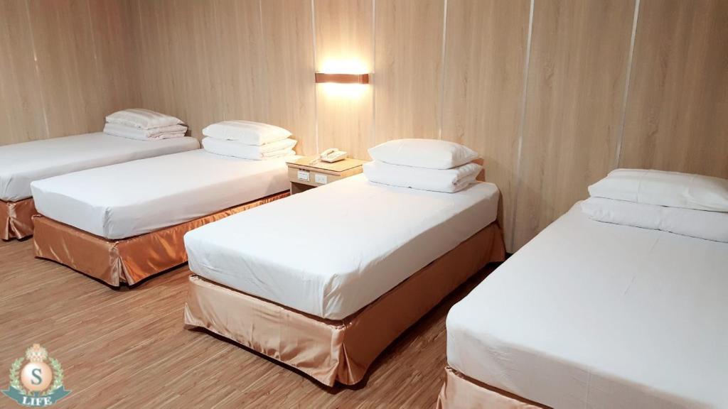 萊馥健康休閒渡假村房間的床