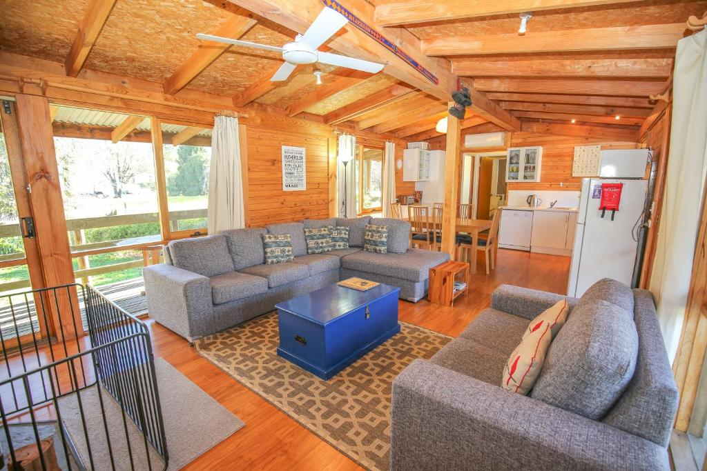 A seating area at The Cabin